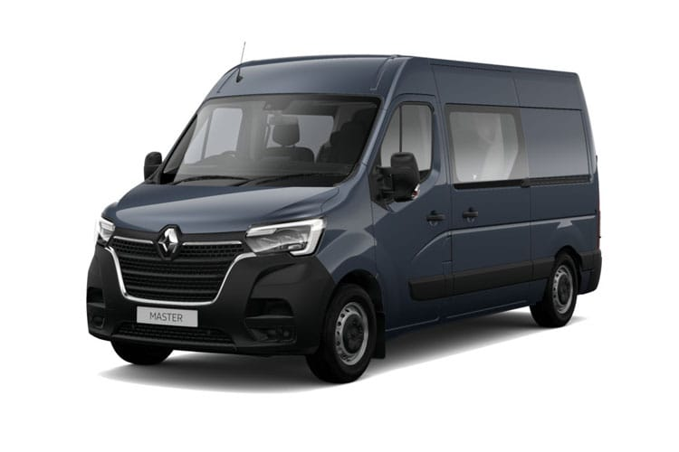 Renault Master LWB 35 FWD 2.3 dCi FWD 135PS Business+ Crew Van Medium Roof Manual front view
